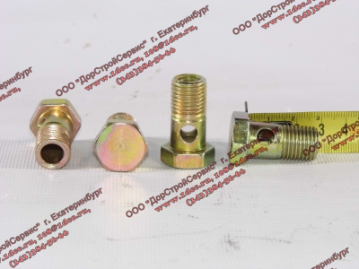 Болт пустотелый М14х1,5 (штуцер топливный) H HOWO (ХОВО) 90003962612 фото 1 Тюмень