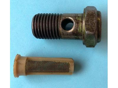 Болт пустотелый М14 с фильтр-сеткой (штуцер топливный) H HOWO (ХОВО) 90003962612